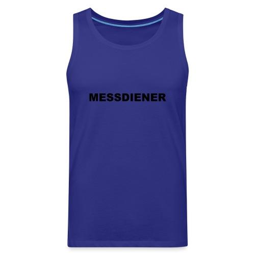MESSDIENER - blue white (Boys) - Männer Premium Tank Top