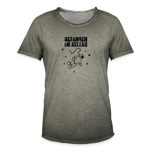 Gefangen im Alltag - Männer Vintage T-Shirt