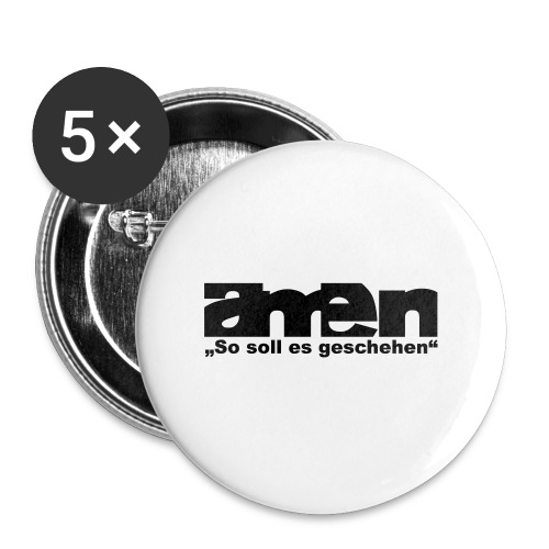 AMEN-red|yel. (Girls) - Buttons klein 25 mm (5er Pack)