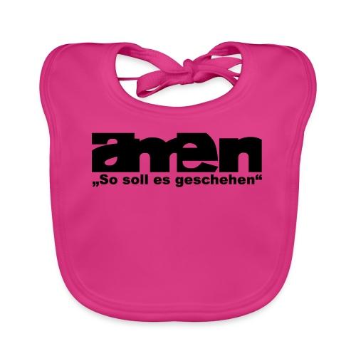AMEN-red|yel. (Girls) - Baby Bio-Lätzchen