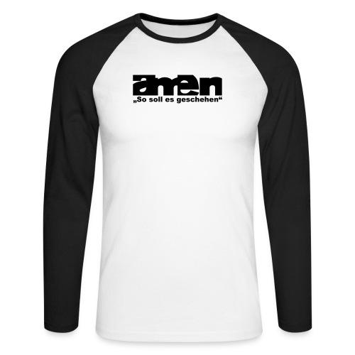 AMEN-red yel. (Girls) - Männer Baseballshirt langarm