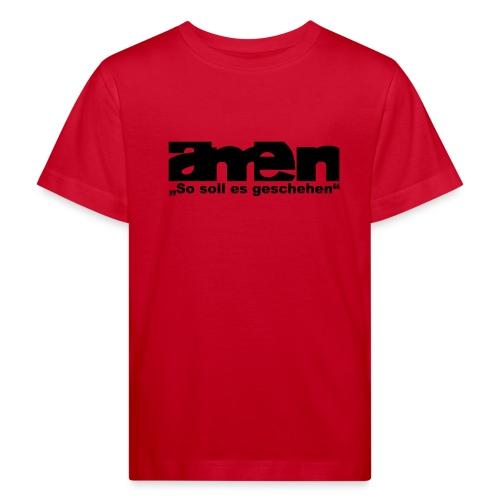 AMEN-red|yel. (Girls) - Kinder Bio-T-Shirt