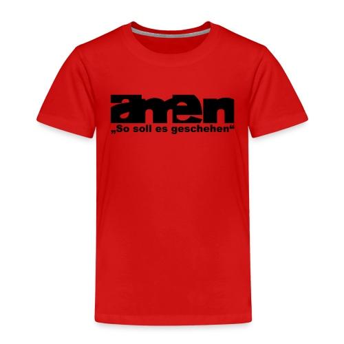 AMEN-red|yel. (Girls) - Kinder Premium T-Shirt