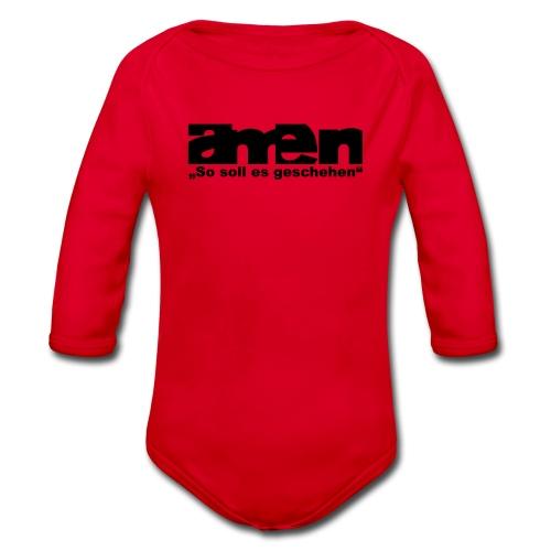 AMEN-red|yel. (Girls) - Baby Bio-Langarm-Body
