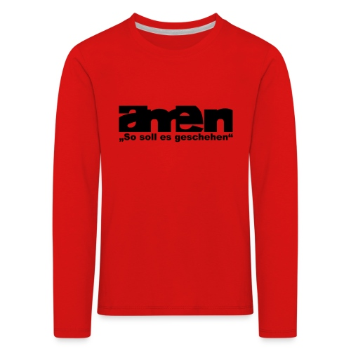 AMEN-red|yel. (Girls) - Kinder Premium Langarmshirt