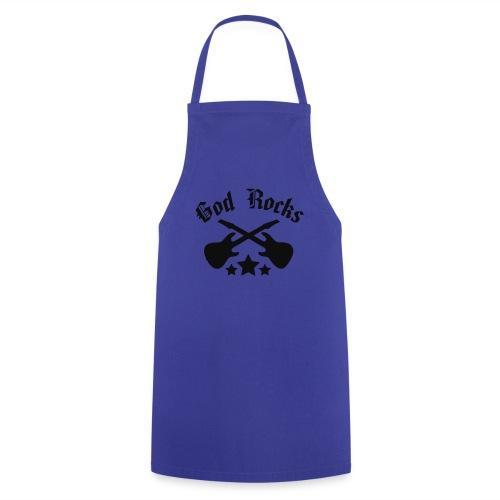 GOD ROCKS-blue|navy (Boys) - Kochschürze