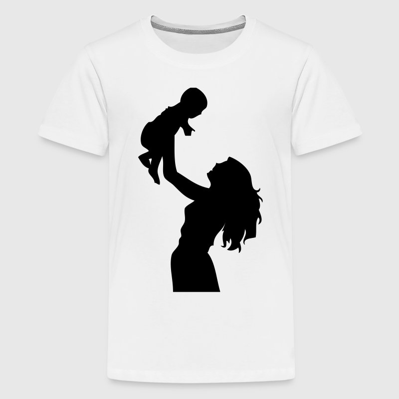 DE-Mutter mit Kind - Teenager Premium T-Shirt