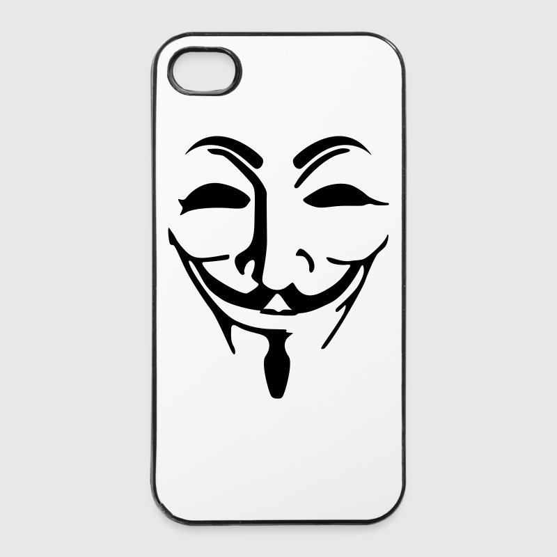 Anonymous Maske fawkes Handy & Tablet Hüllen - iPhone 4/4s Hard Case