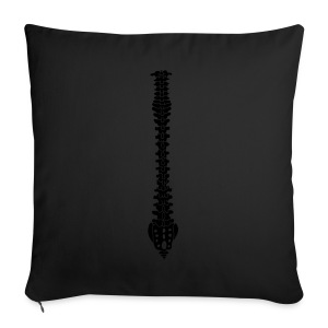 Women's black T-shirt with spine  - Sofa pillow cover 44 x 44 cm