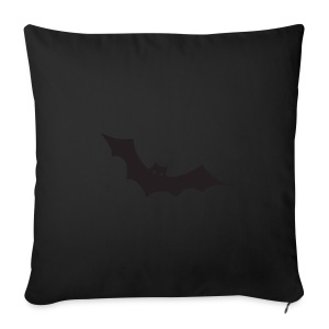 Women's black T-shirt with Bat design - Sofa pillow cover 44 x 44 cm
