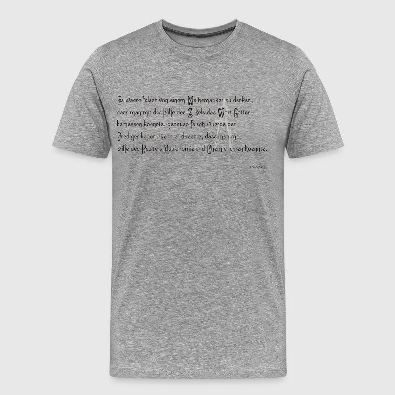 Grau meliert Lomonosow T-Shirts - Männer Premium T-Shirt