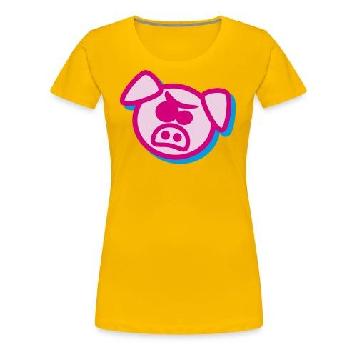 Angry pig - Women's Premium T-Shirt