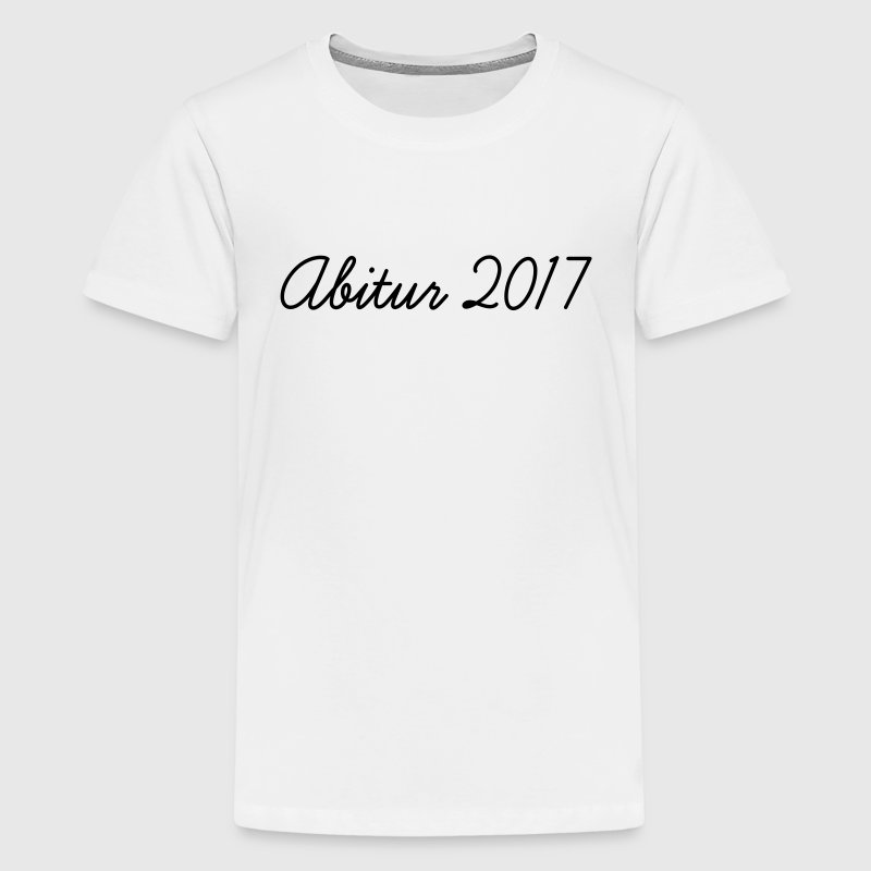 Gelb Abi 2017 Kinder T-Shirts - Teenager Premium T-Shirt
