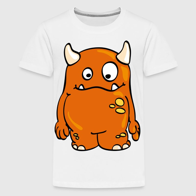 Gelb Monster Catch Kinder T-Shirts - Teenager Premium T-Shirt