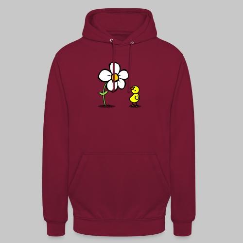 Vogel Blumeshirt (farbig) - Unisex Hoodie