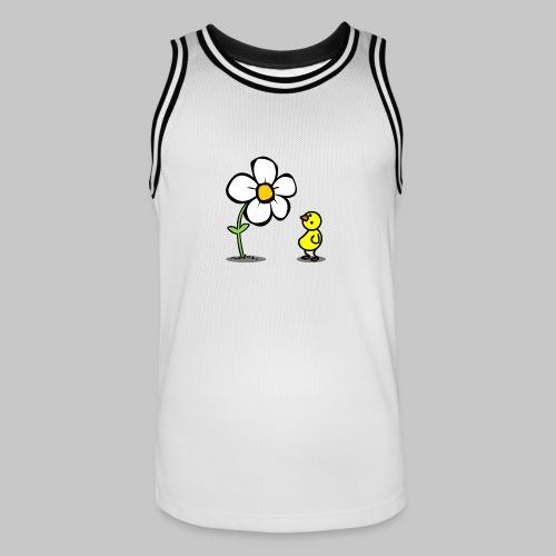 Vogel Blumeshirt (farbig) - Männer Basketball-Trikot