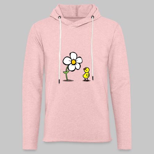 Vogel Blumeshirt (farbig) - Leichtes Kapuzensweatshirt Unisex