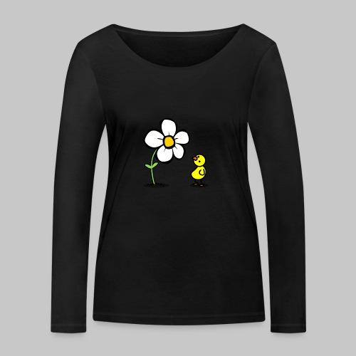 Vogel Blumeshirt (farbig) - Frauen Bio-Langarmshirt von Stanley & Stella