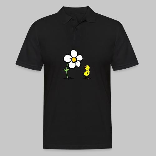 Vogel Blumeshirt (farbig) - Männer Poloshirt