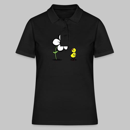 Vogel Blumeshirt (farbig) - Frauen Polo Shirt