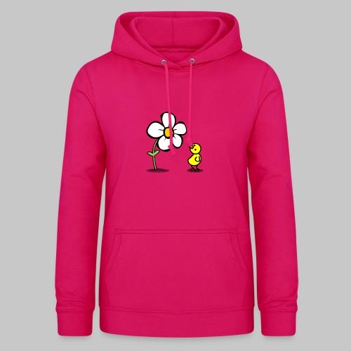 Vogel Blumeshirt (farbig) - Frauen Hoodie