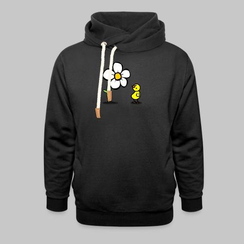 Vogel Blumeshirt (farbig) - Schalkragen Hoodie