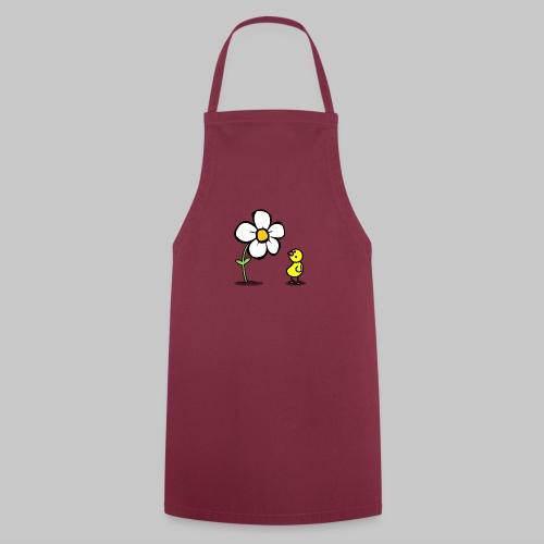Vogel Blumeshirt (farbig) - Kochschürze