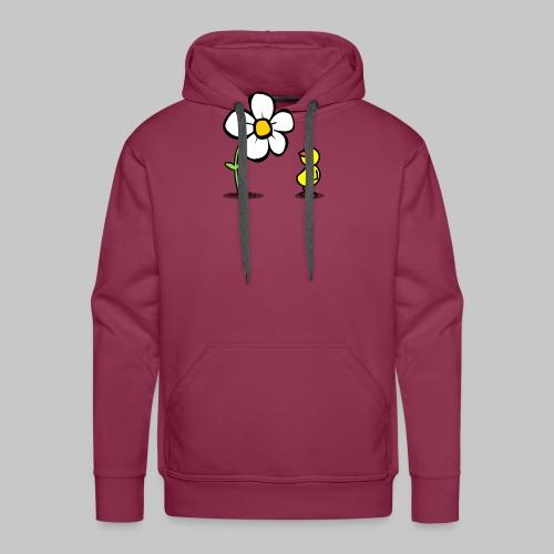 Vogel Blumeshirt (farbig) - Männer Premium Hoodie