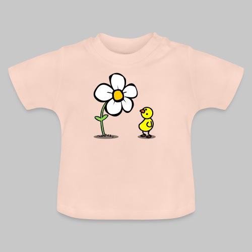 Vogel Blumeshirt (farbig) - Baby T-Shirt