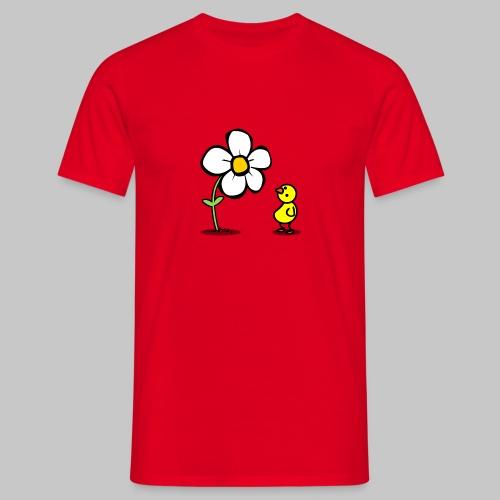 Vogel Blumeshirt (farbig) - Männer T-Shirt