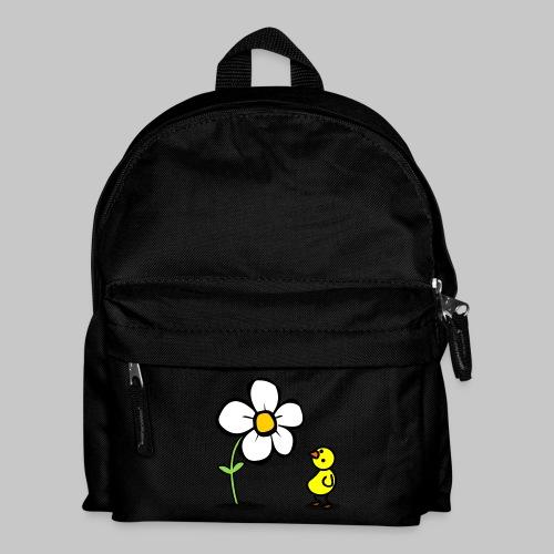 Vogel Blumeshirt (farbig) - Kinder Rucksack