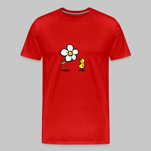 Vogel Blumeshirt (farbig) - Männer Premium T-Shirt