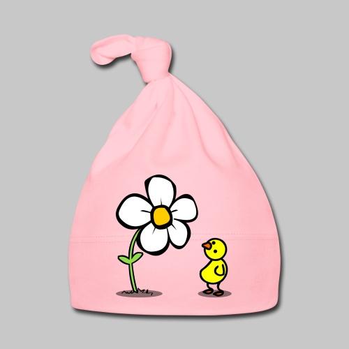 Vogel Blumeshirt (farbig) - Baby Mütze