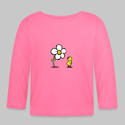 Vogel Blumeshirt (farbig) - Baby Langarmshirt