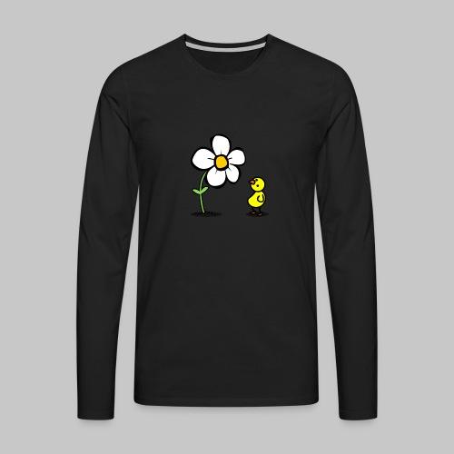 Vogel Blumeshirt (farbig) - Männer Premium Langarmshirt