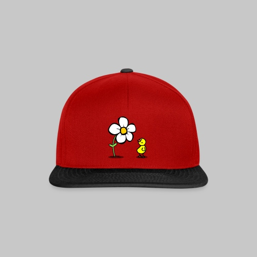 Vogel Blumeshirt (farbig) - Snapback Cap