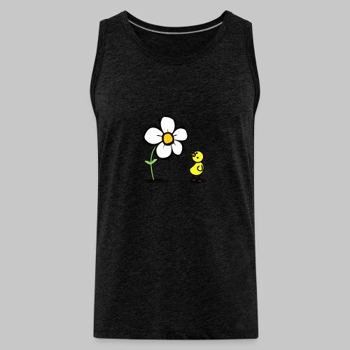 Vogel Blumeshirt (farbig) - Männer Premium Tank Top