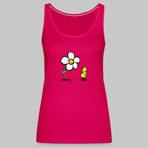 Vogel Blumeshirt (farbig) - Frauen Premium Tank Top