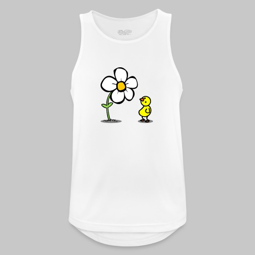 Vogel Blumeshirt (farbig) - Männer Tank Top atmungsaktiv