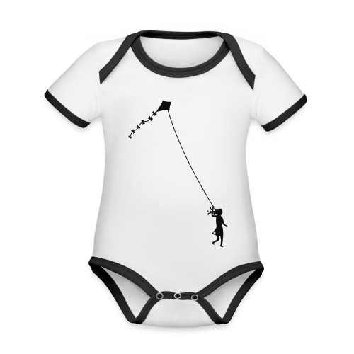 Let´s go fly a kite! - Organic Baby Contrasting Bodysuit