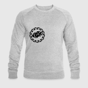 Ash ROUND_flames_with_dices1 T-Shirts - Men's Sweatshirt by Stanley & Stella
