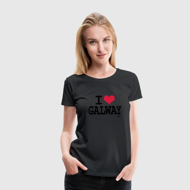 Black i love galway by wam Women's T-Shirts - Women's Premium T-Shirt