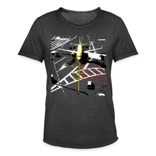 airport | Std.shirt - Männer Vintage T-Shirt