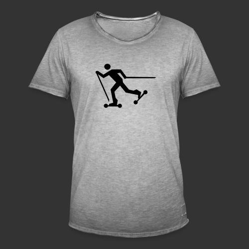 Nordic Skating - Männer Vintage T-Shirt