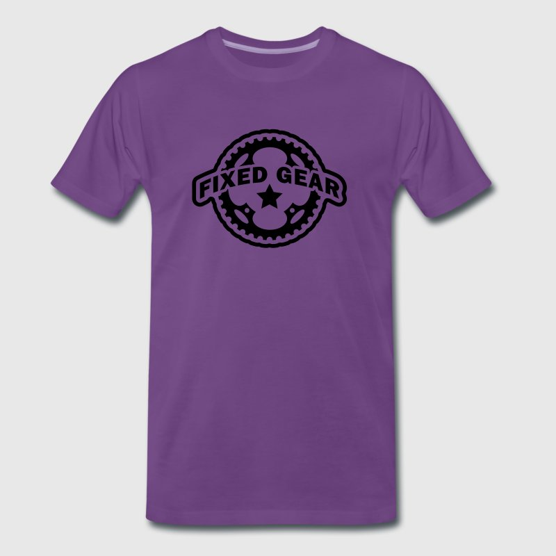 Fixed Gear Fixie Chainring T-Shirts - Men's Premium T-Shirt