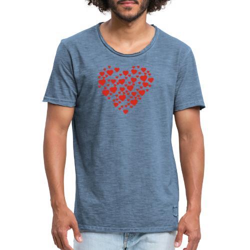 T-shirt Femme Cœur. - T-shirt vintage Homme