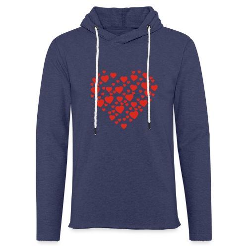 T-shirt Femme Cœur. - Sweat-shirt à capuche léger unisexe
