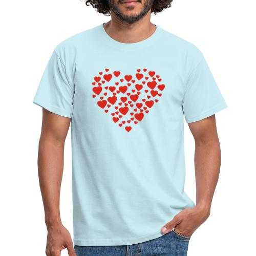 T-shirt Femme Cœur. - T-shirt Homme
