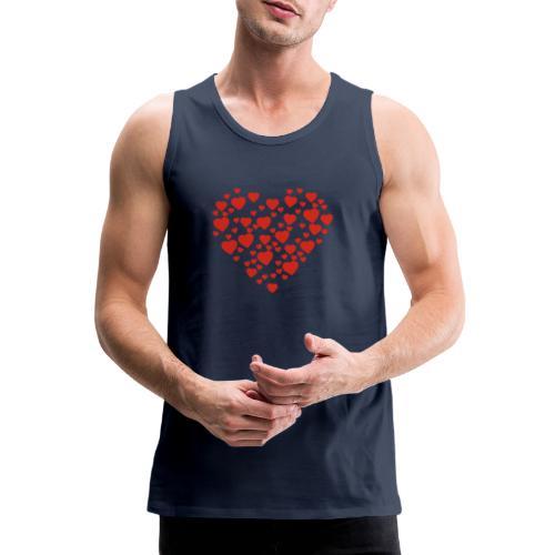 T-shirt Femme Cœur. - Débardeur Premium Homme