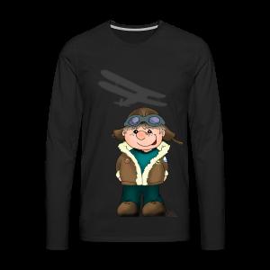 KinderShirt Quaggs, der Bruchpilot - Männer Premium Langarmshirt